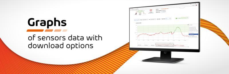 Рисунок 4. Графики данных параметров с возможностью загрузки SensDesk Pro 100-1Year