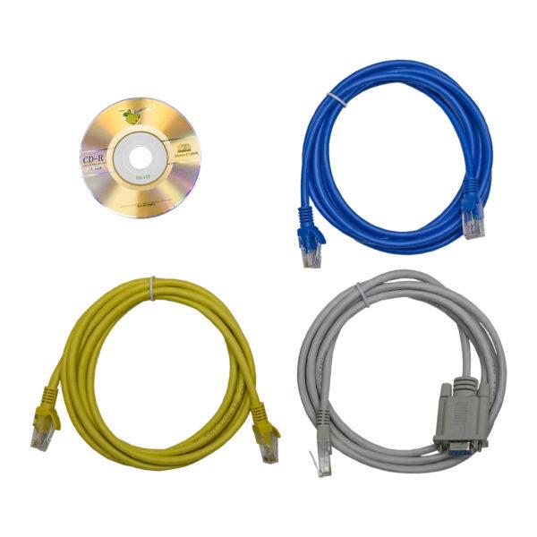 TP-STD-C-20A04B-32L1 - блок розеток с функцией управления каждой розеткой серия STD, 20xC13, 4xC19, вход IEC60309 32A (2P+PE) кабели