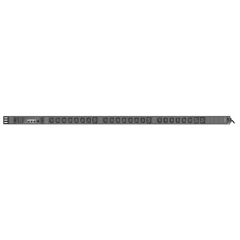TP-BASIC-20A04B-32L3 - блок розеток с функцией измерения серия BASIC, 20xC13, 4xC19, вход IEC60309 3x32A (3P+N+PE)