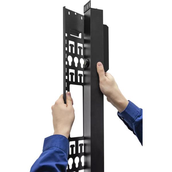 TP-STD-B-20A04B-32L1 - блок розеток с функцией измерения каждой розетки серия STD, 20xC13, 4xC19, вход IEC60309 32A (2P+PE) как крепить